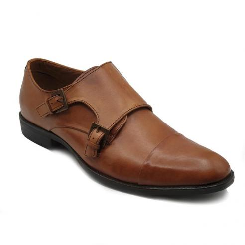 Zapato vestir caballero en piel color...