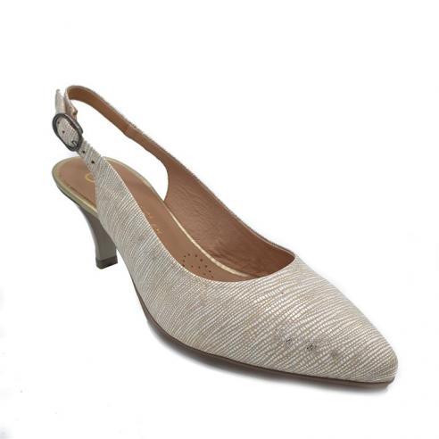 Zapato tacon medio mujer descubierto...