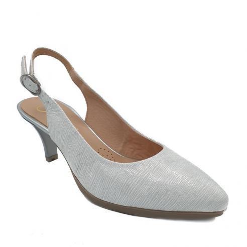 Zapato tacon medio descubierto mujer...