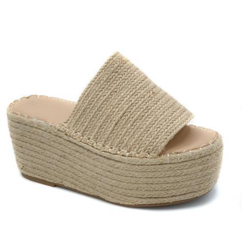 Sandalia moda mujer plataforma super...
