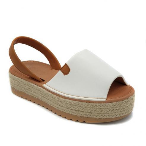 Sandalia moda plataforma esparto...