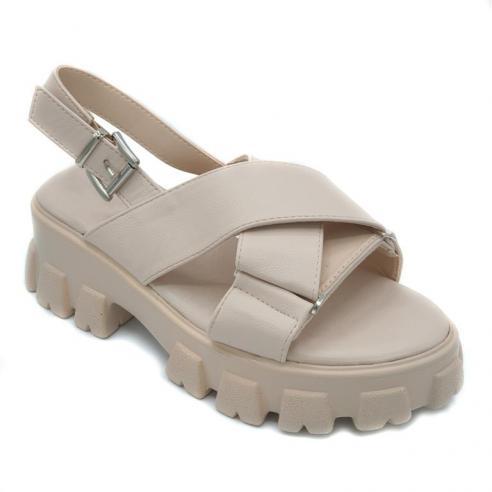 Sandalia super moda mujer en beige...