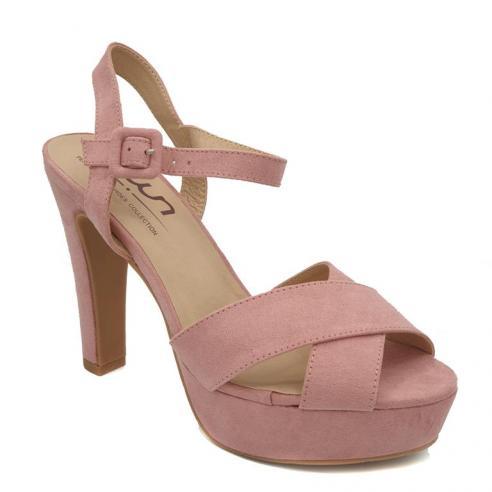 Sandalia plataforma rosa nude, pala...