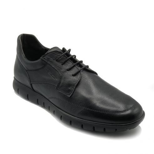Zapato hombre cordón en piel color...