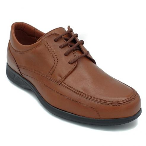 Zapato cordones PIEL hombre ANCHO...