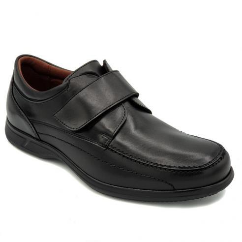 Zapato velcro PIEL hombre ANCHO...