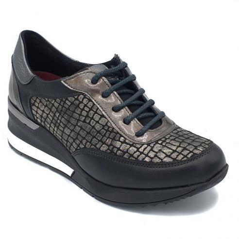 Zapato mujer cuña tricolor estilo...