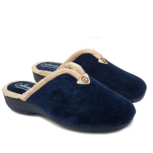 Zapatilla de casa mujer azul marino...